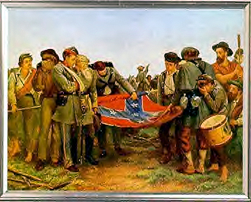 Lee surrenders to Grant at Appomattox. Grant graciously refused to ...